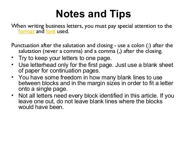 Formation of business letter 10 notes and tips when writing business letters spiritdancerdesigns Gallery