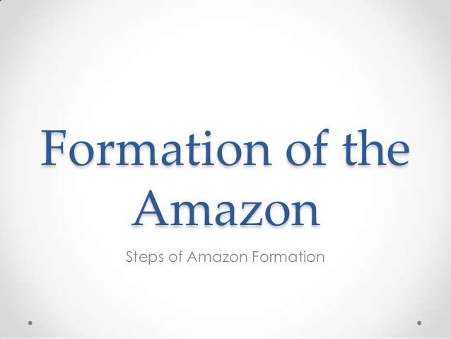 Formation of the Amazon Steps of Amazon Formation