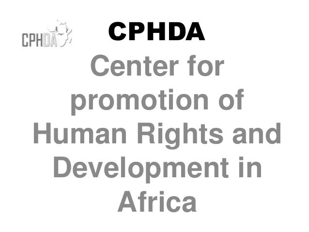 CPHDA Center for promotion of Human Rights and Development in Africa