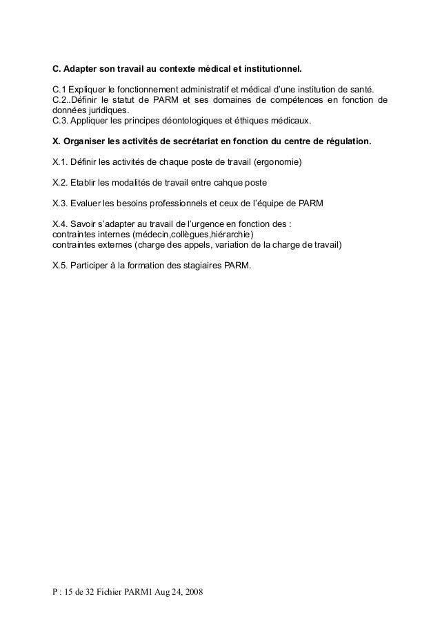 C. Adapter son travail au contexte médical et institutionnel. C.1 Expliquer le fonctionnement administratif et médical d'u...