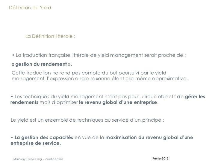 Principes fondamentaux du Revenue Management Slide 2