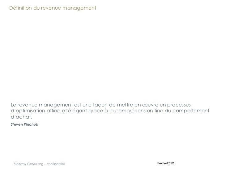 Principes fondamentaux du Revenue Management Slide 3