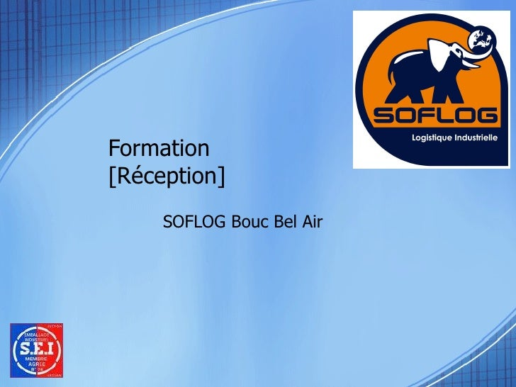 Formation [Réception]  SOFLOG Bouc Bel Air