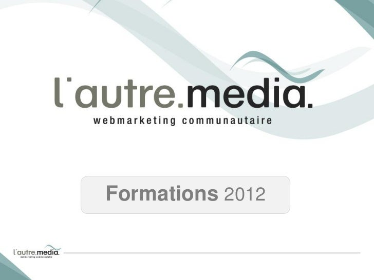 Formations 2012