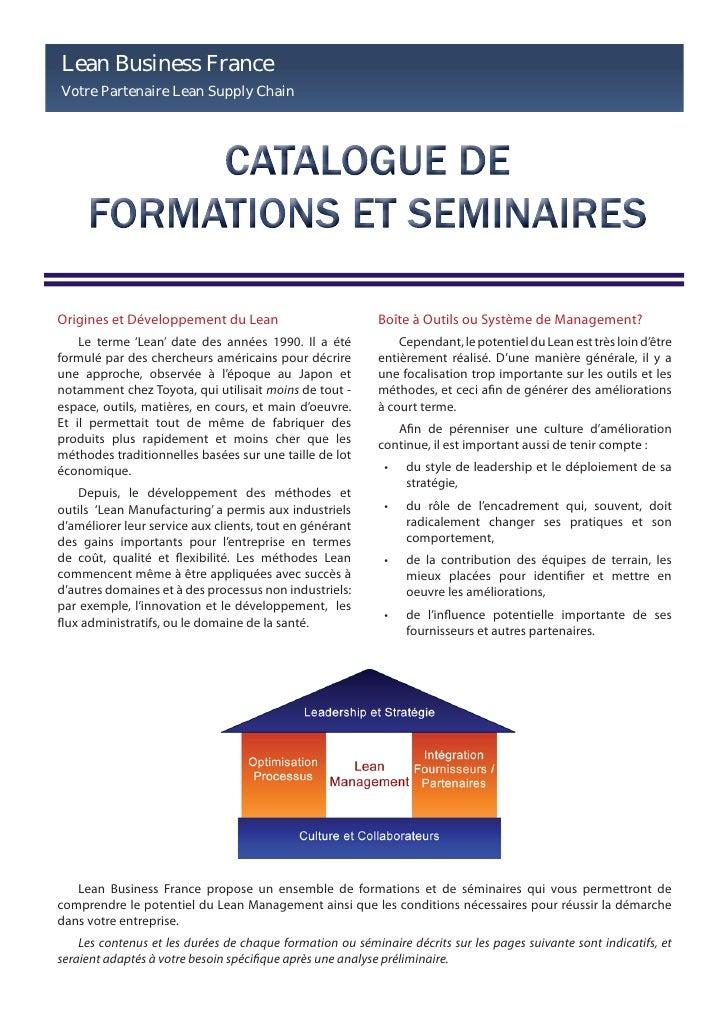 Lean Business France Votre Partenaire Lean Supply Chain     Origines et Développement du Lean                          Boî...