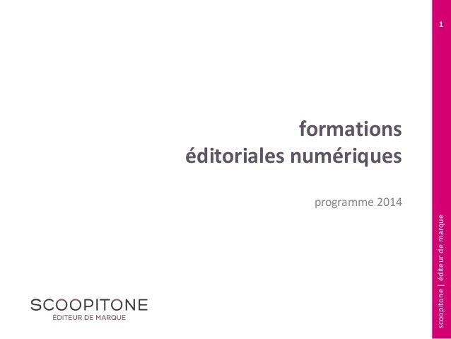 1  formations éditoriales numériques scoopitone | éditeur de marque  programme 2014