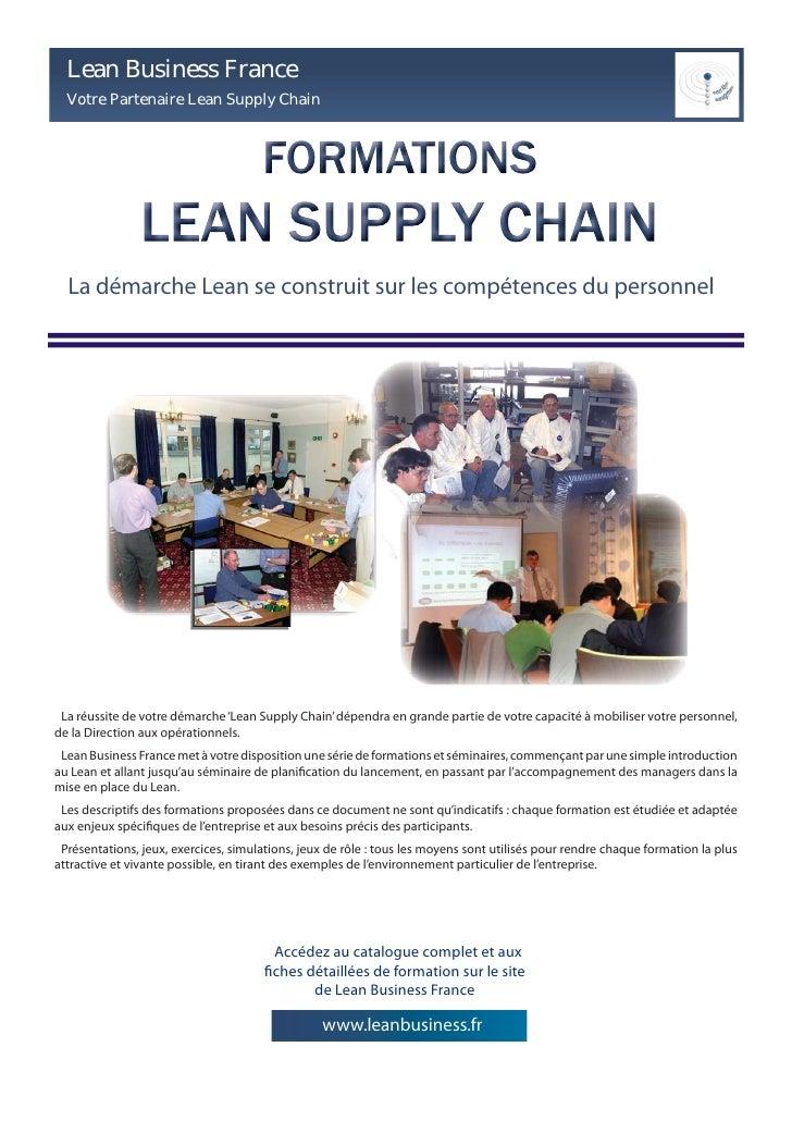 Lean Business France   Votre Partenaire Lean Supply Chain       La démarche Lean se construit sur les compétences du perso...