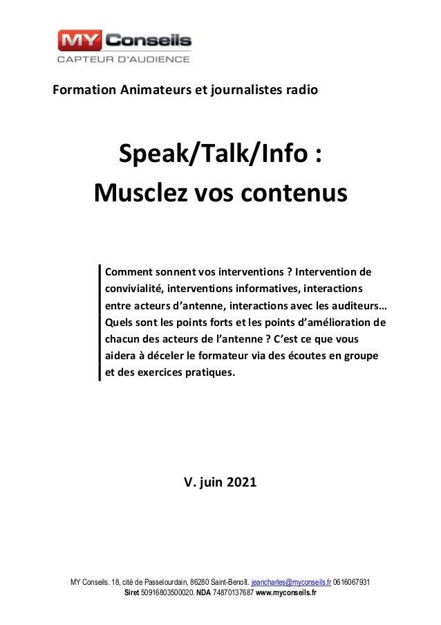 MY Conseils. 18, cité de Passelourdain, 86280 Saint-Benoît. jeancharles@myconseils.fr 0616067931 Siret 50916803500020. NDA...