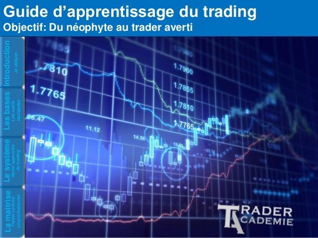 Trader comme un profesionnel  La maitrise Notre approche de trading  Le système Les outils tactiquess Je débute  Les bases...