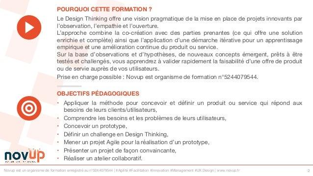 Formation UX Design - Explorer le champs des possibles avec le Design Thinking Slide 2