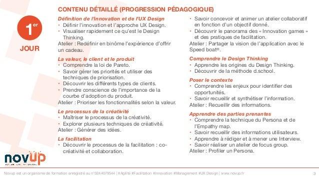 Formation UX Design - Explorer le champs des possibles avec le Design Thinking Slide 3