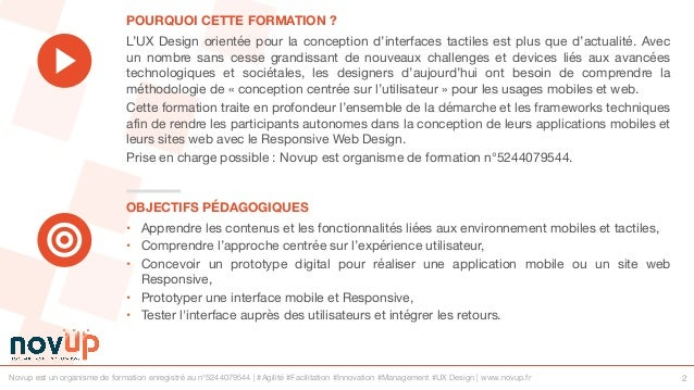 Formation UX Design - Usages mobiles et web Slide 2