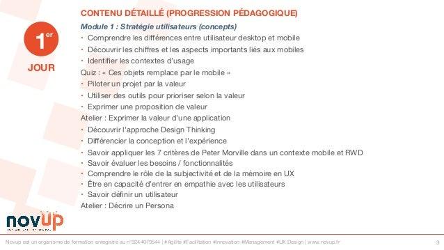 Formation UX Design - Usages mobiles et web Slide 3