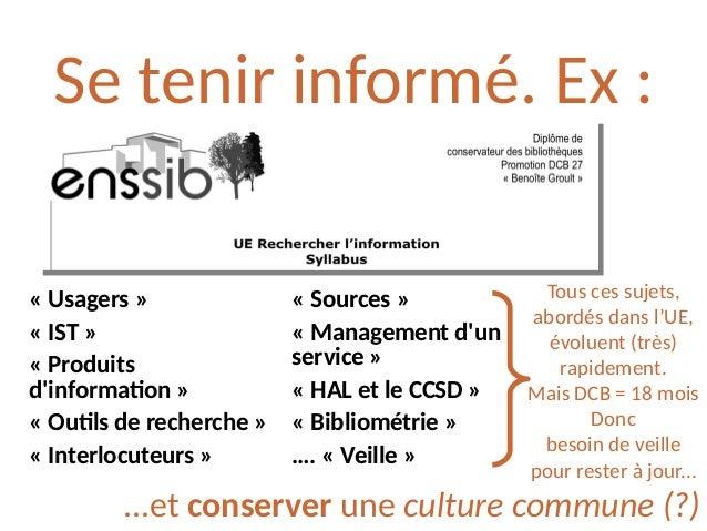 Transformer l'image ?(...de la BU/BM) Marois A. Réseaux sociaux et BU. In: Vidal J-M, éditeur. Faire connaître et valorise...