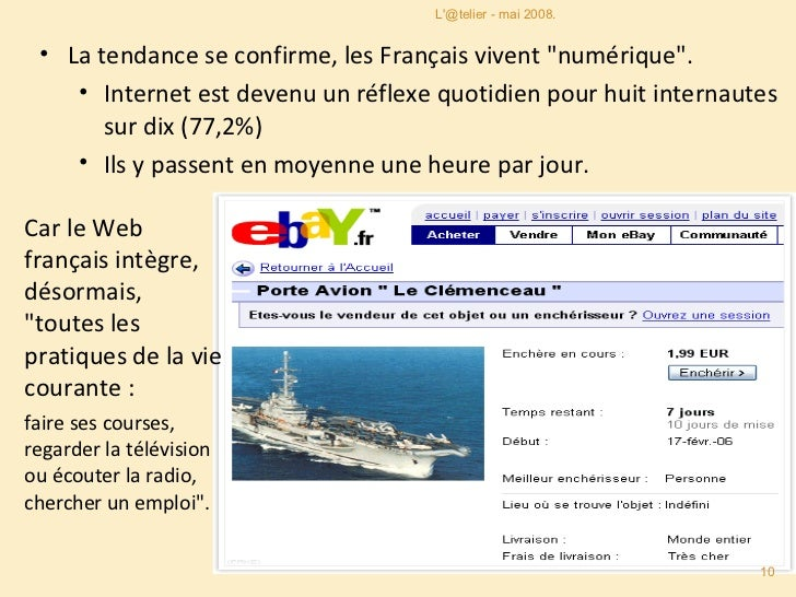 <ul><li>La tendance se confirme, les Français vivent &quot;numérique&quot;.  </li></ul><ul><ul><li>Internet est devenu un ...