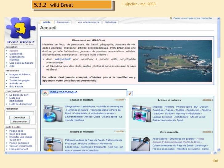 L'@telier - mai 2008. 5.3.2  wiki Brest