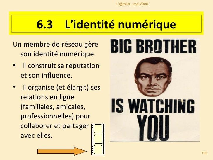<ul><li>Un membre de réseau gère son identité numérique. </li></ul><ul><li>Il construit sa réputation et son influence. </...