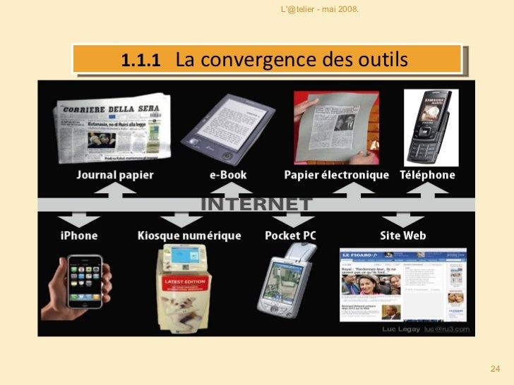 1.1.1  La convergence des outils  L'@telier - mai 2008.