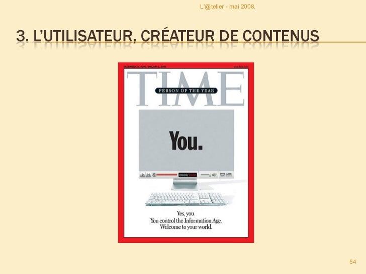 <ul><li>Contenus Générés par les Utilisateurs  : </li></ul><ul><li>Acronyme inventé pour résumer le rôle de contribution a...