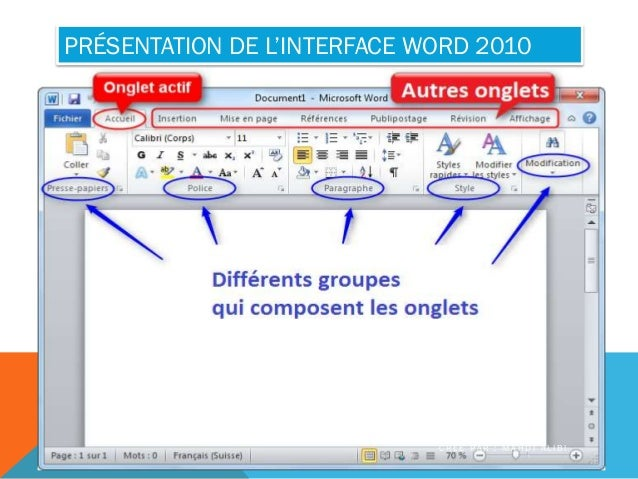 formation word 2010 partie 1