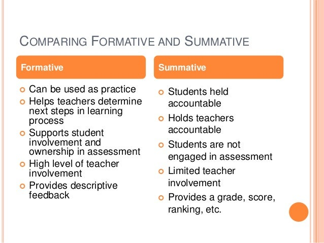 formative and summative assessment Articles for teachers on formative vs summative assessments, including tips and strategies that work.