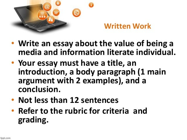 essay for work
