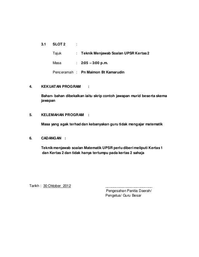 Format Laporan Kursus Dalaman