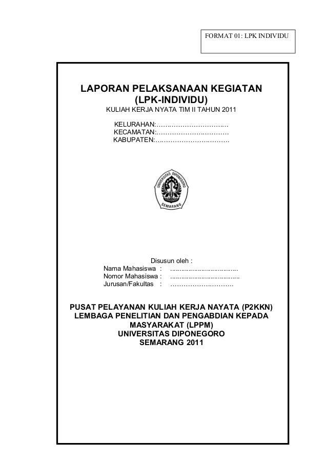 Format Lpk Laporan Program Kerja