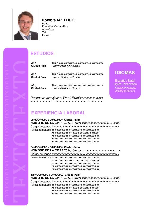 Curriculum Vitae Download Con Foto Azwg Tk
