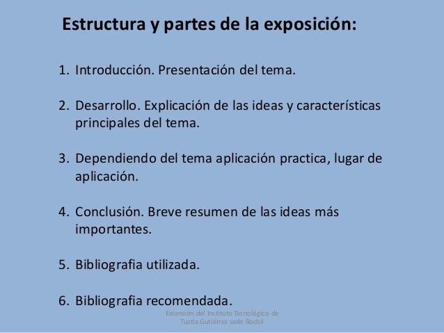 Formato de presentaciones de temas a exponer Slide 3