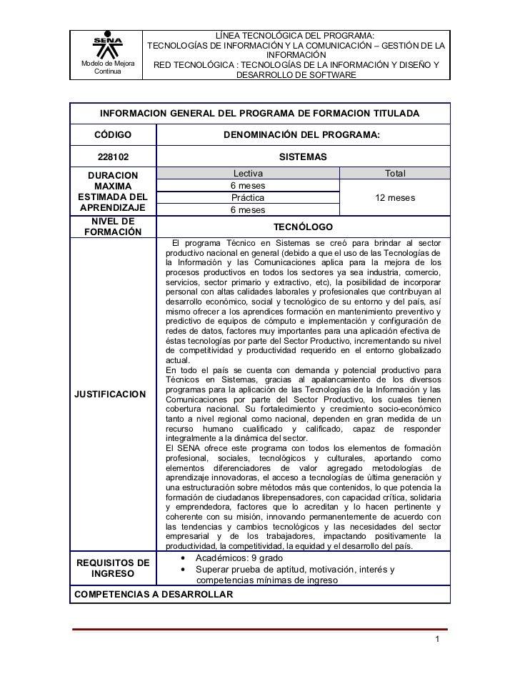 LÍNEA TECNOLÓGICA DEL PROGRAMA:                    TECNOLOGÍAS DE INFORMACIÓN Y LA COMUNICACIÓN – GESTIÓN DE LA           ...