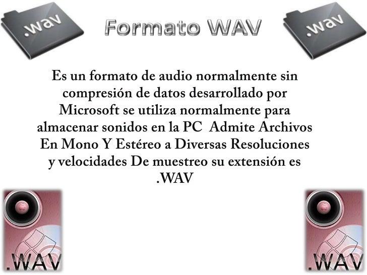 Formato de audio diego Slide 2