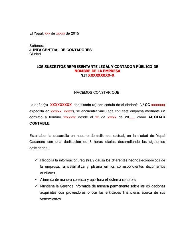 Formato De Certificado Laboral Para Tarjeta Profesional