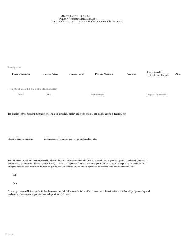 Formato del mdi ministerio del interior ecuador for Ministerio del interior pasaporte