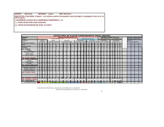 Planificacion De Entrenamiento Deportivo Macrociclo Y