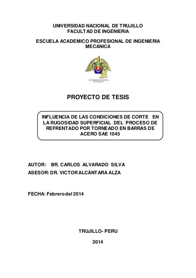 Formato De Tesis Formato De Proyecto