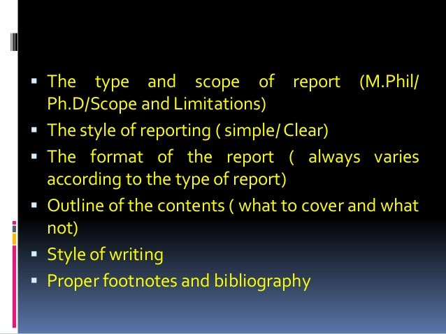 research outline format