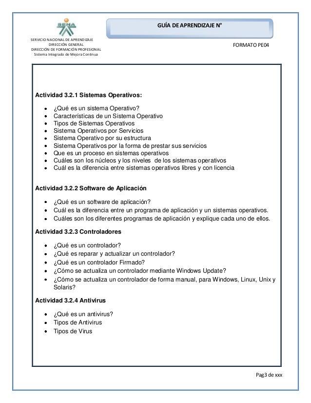Formato guia de aprendizaje sistemas instalacion de software for Diferencia entre licencia de apertura y licencia de actividad
