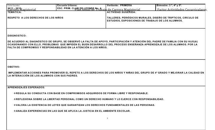 Ciclo Escolar:                     Escuela Urbana:                   Vertiente: PRIMERA               Bimestre: 3 º, 4º y ...
