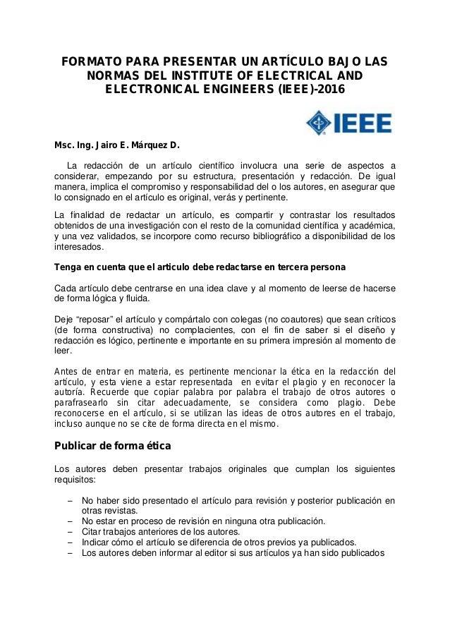 Formato para presentar un artículo ieee-2016