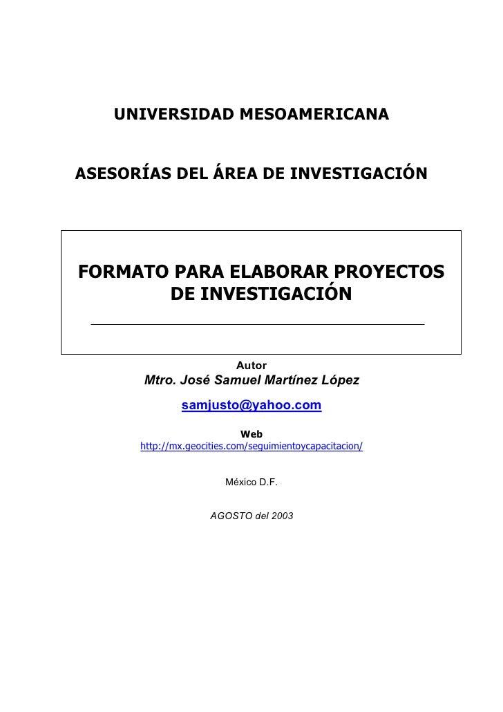 Formato presentación de investigacion cronograma