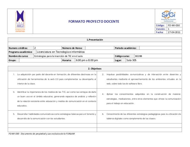 FORMATO PROYECTO DOCENTE                                                                                                  ...