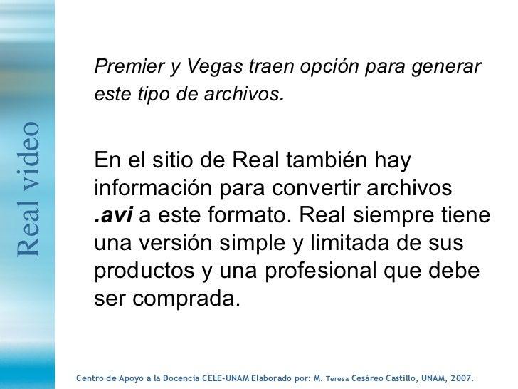 <ul><li>Premier y Vegas traen opción para generar este tipo de archivos .   </li></ul><ul><li>En el sitio de Real también ...