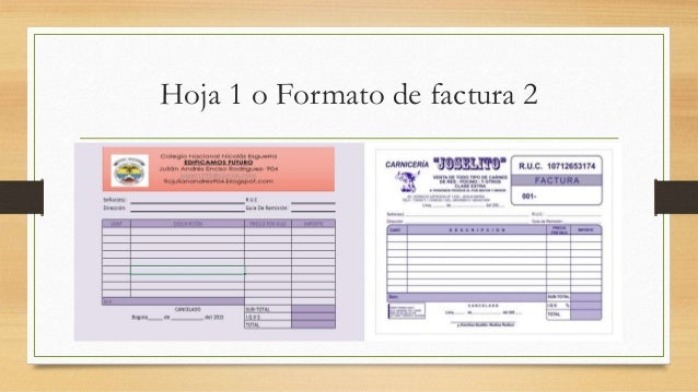 formatos de factura excel