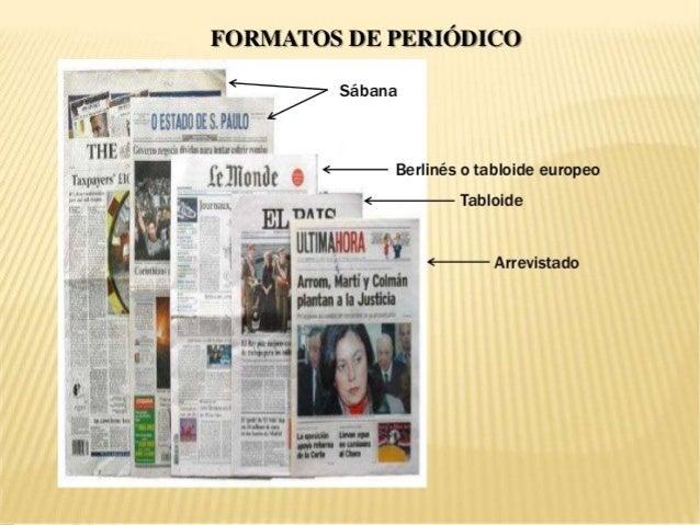 Resultado de imagen de formatos de periódico