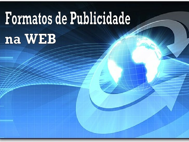 Formatos de Publicidade na WEB