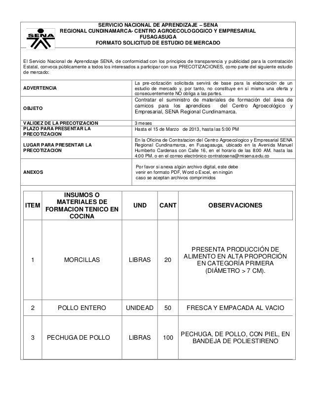 SERVICIO NACIONAL DE APRENDIZAJE – SENA                 REGIONAL CUNDINAMARCA- CENTRO AGROECOLOGOGICO Y EMPRESARIAL       ...