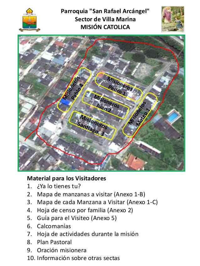 """Parroquia """"San Rafael Arcángel"""" Sector de Villa Marina MISIÓN CATOLICA Material para los Visitadores 1. ¿Ya lo tienes tu? ..."""