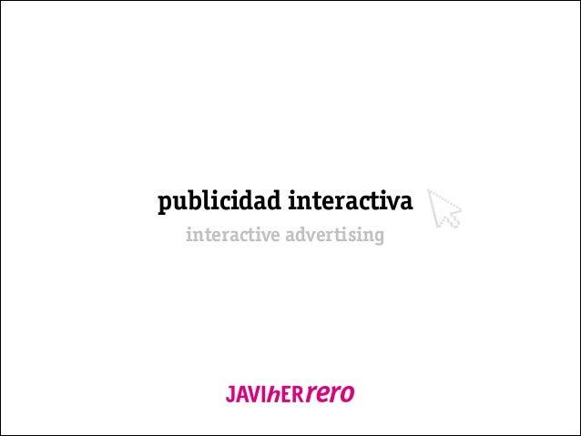publicidad interactiva interactive advertising