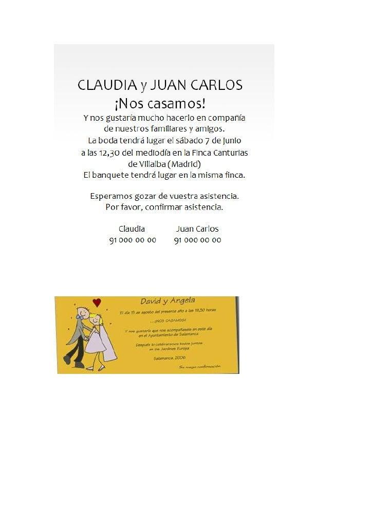 Formato Tarjeta De Invitacion